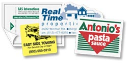 color labels, decals, bumper stickers